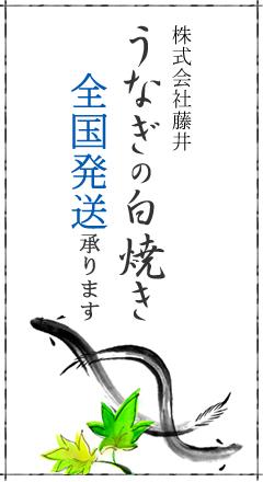 株式会社藤井 鰻の白焼き全国発送承ります
